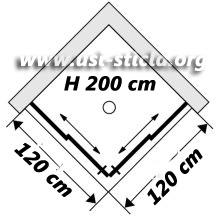 Cabina dus patrata doua usi glisante 120x120 imagine